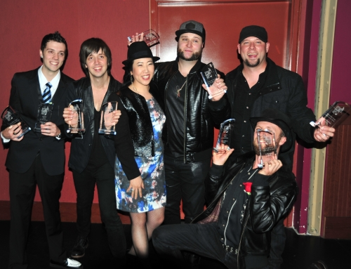 Monica and her students CHRIS BUCK BAND – BC Country Music Association Awards Ceremony.  Taking home 2 Awards: Best Group of the Year, and Best Act of the Year